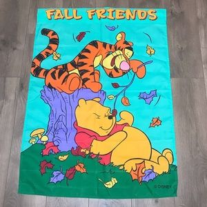 Winnie the Pooh Fall Friends Flag Wall Decor